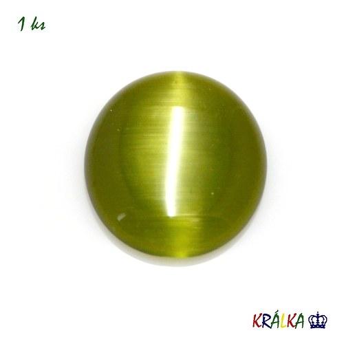 Skleněný kabošon ovál zelený