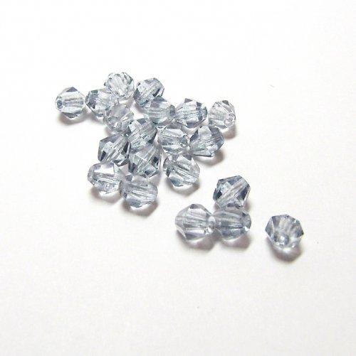 Broušená sluníčka 6mm, crystal s AB efektem 25 ks
