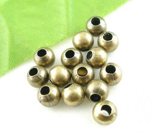 kovový korálek ant.bronz 4mm/500ks