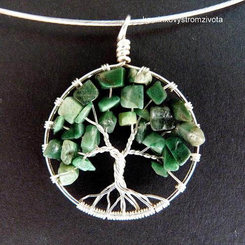 Přívěsek Strom života prasemový