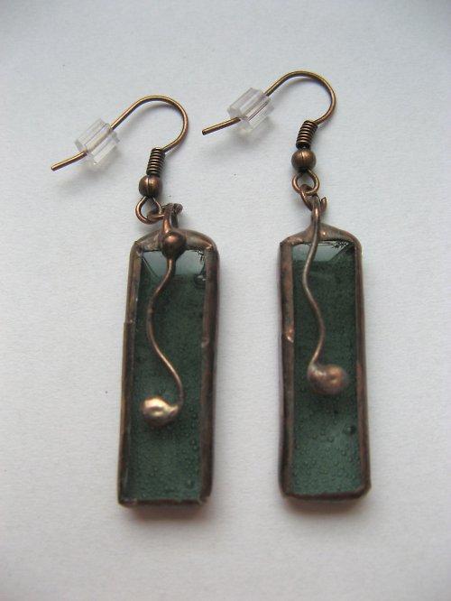 Náušnice zelené - k náhrdelníku spermiogram