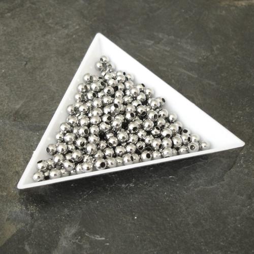 Korálek kulička 4mm - nerezová ocel 304 - 100 ks