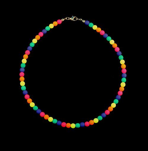 Duhový náhrdelník pro malou slečnu