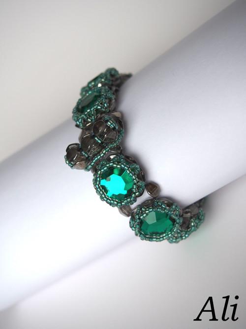 Smaragdový náramek