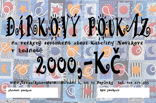 Nákupní poukaz 2000 Kč u prodejce Kateřina N.