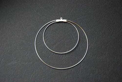 Dvojitá kreole - stříbrná