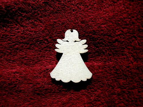 2D výřez andílek čistý -v.5,1x4,1cm