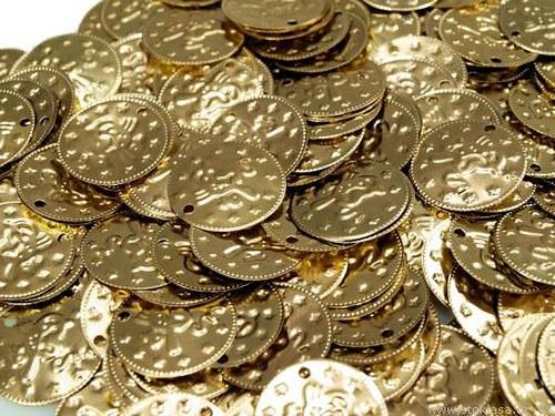 zlaté našívací mince