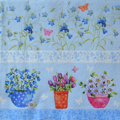 Květy v modré