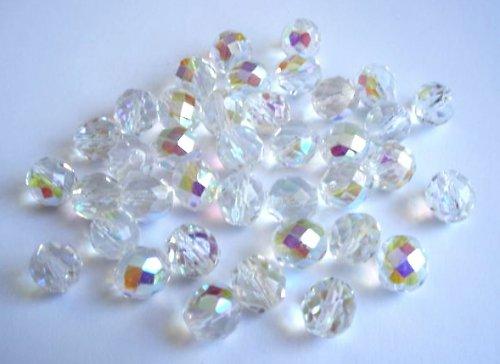 Broušená kulička krystal AB 10mm