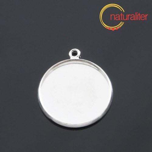Lůžko kruh 18mm stříbrná barva
