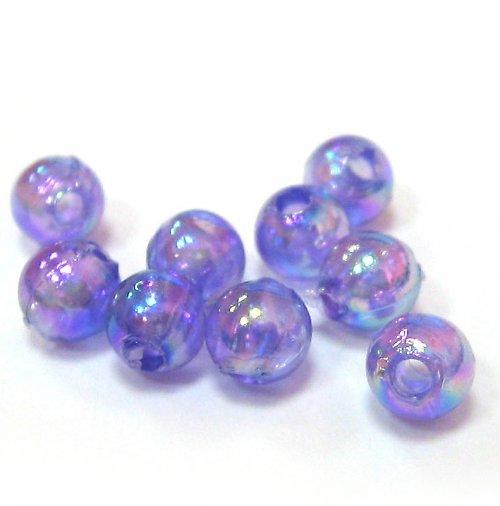 Perly - fialové duhové - 50 ks