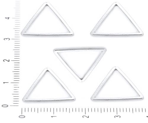 8ks Postříbřené Náušnice Trojúhelník Drát Drop Hoo
