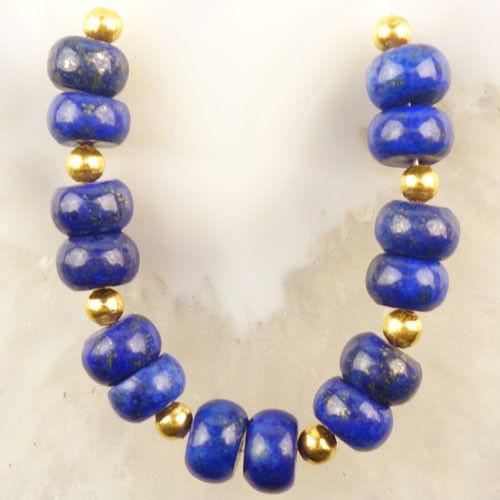 Set Korálků 14ks Lapis Lazuli 4x8mm - F69919