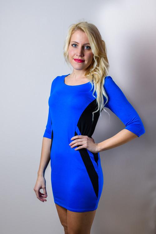 Modro-černé šaty