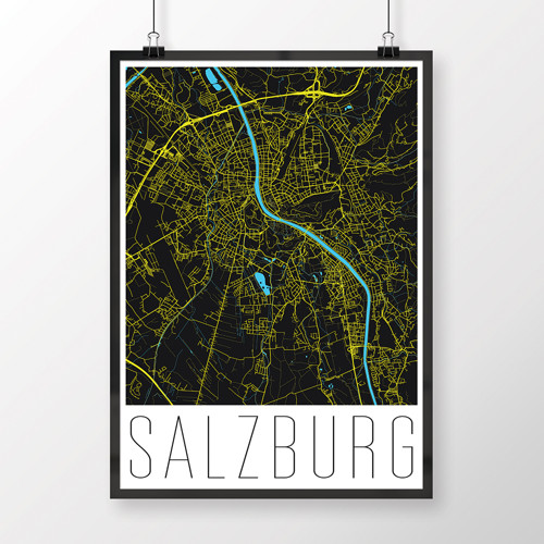 SALZBURG, 50x70cm, moderní, černý
