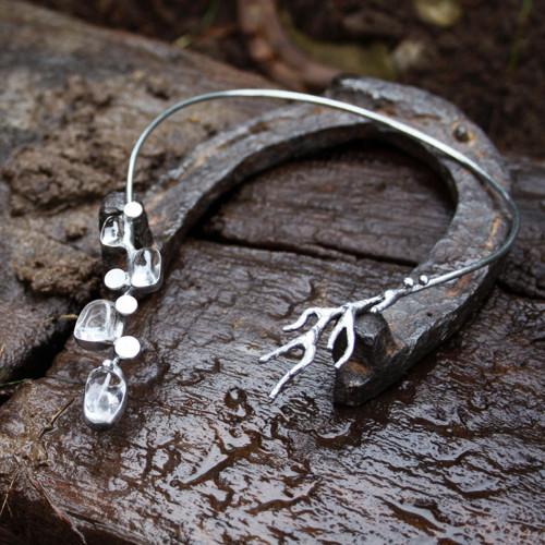 Křišťálová větev - náhrdelník