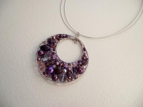 Fialka - náhrdelník