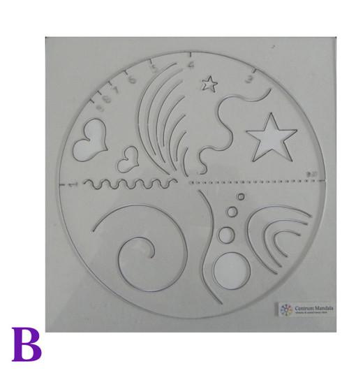 Šablona pro tvorbu vlastních mandal - vzor B