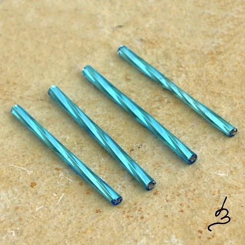 Skleněné tyčky 35 mm SV modré - 12 ks