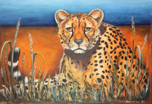 Autorský arch Gepard v savaně