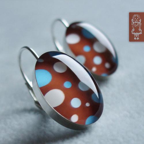 Retro čokoládové s puntíky - stříbro