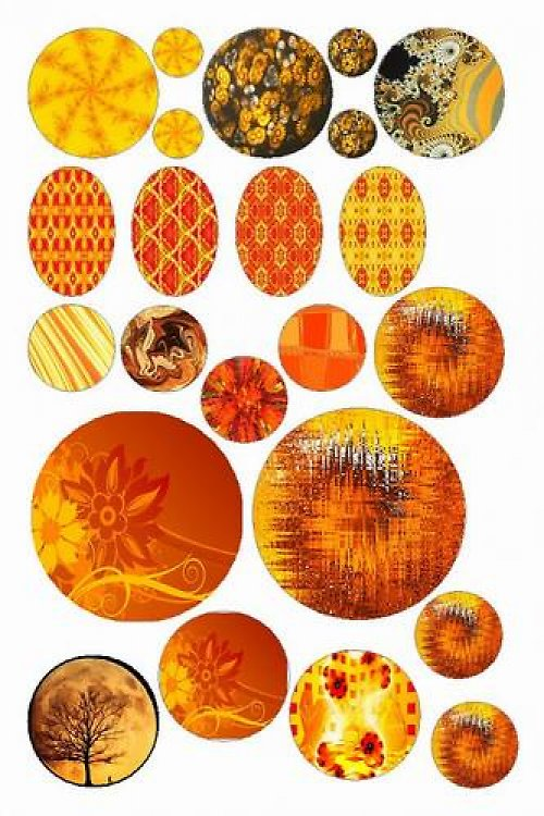 Oranžové (vzor 5)