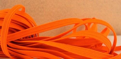 Pruženka/guma š.6 mm: Oranžová