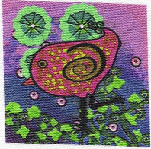 bavlněná látka - panel 8,5 x 8,5 cm