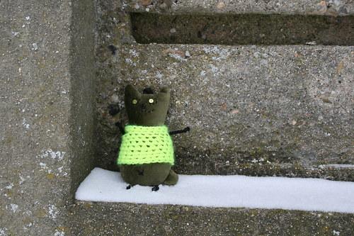 Kočička zelená v neonovém svetříku