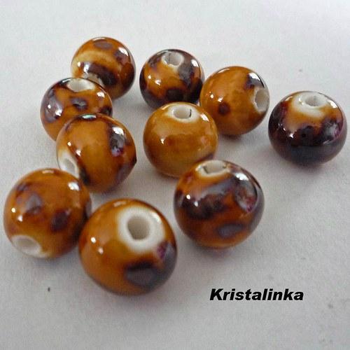 Porcelánové kuličky 9mm