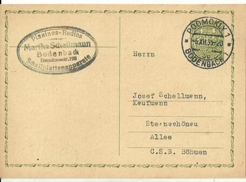 Dopisnice Bodenbach Podmokly