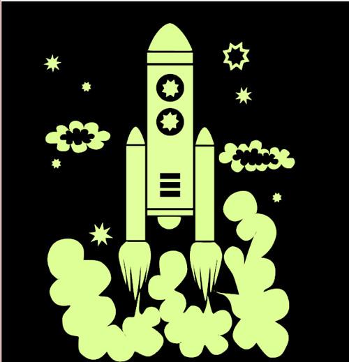 "Nažehlovačka \""Vesmírná raketa\"""