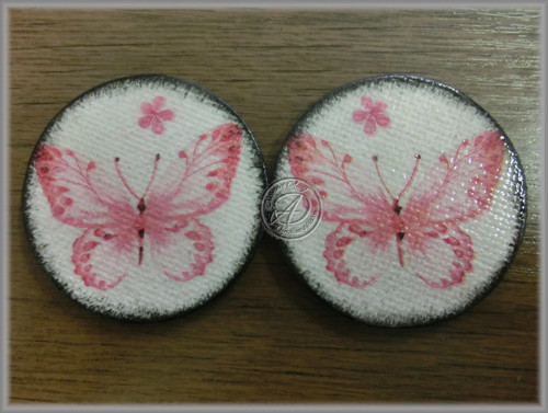 Magnety Motýlci v růžové