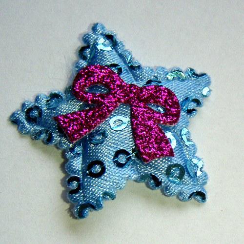 nášivka modrá hvězdička