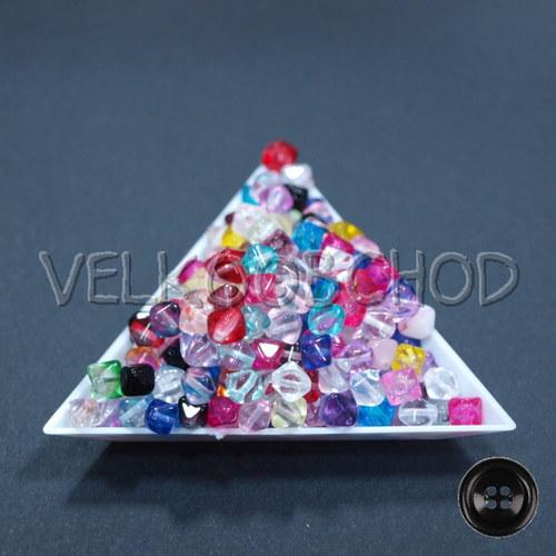 Korálky mačkanice - mix pyramidy transparent (20g)