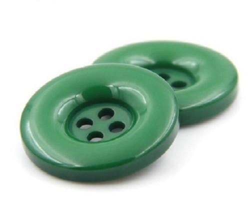 Plastový knoflík 15 mm 2 kusy zelený