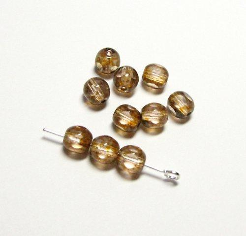 Medové korálky 6 mm, ploškované 12 ks