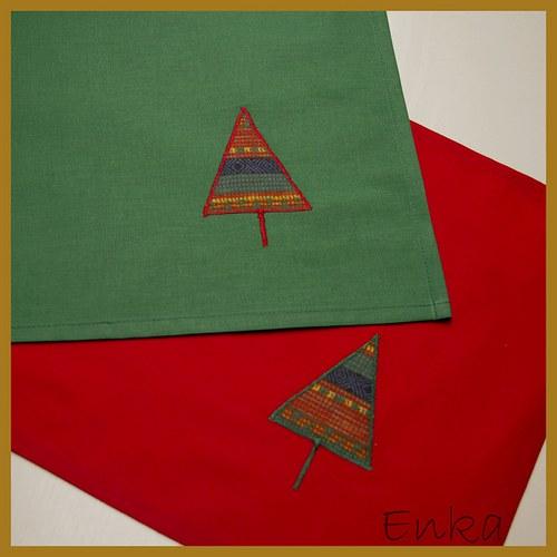Vánoční prostírka - zelená