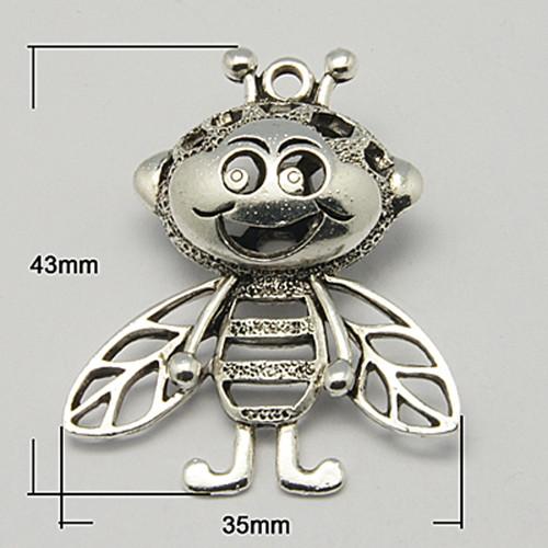 včela Vilík 3D/ ant.stříbro/ 45x35mm