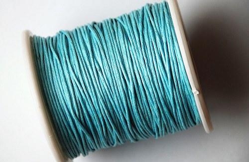 voskovaná šňůrka 10m-světle modrý