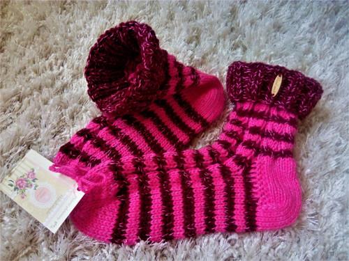 Pletené ponožky - pro PINK chalupářky vel.38-39
