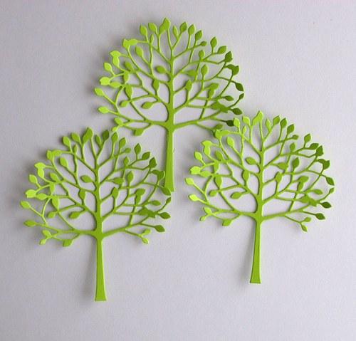 Listnatý strom č.1 - 3 ks