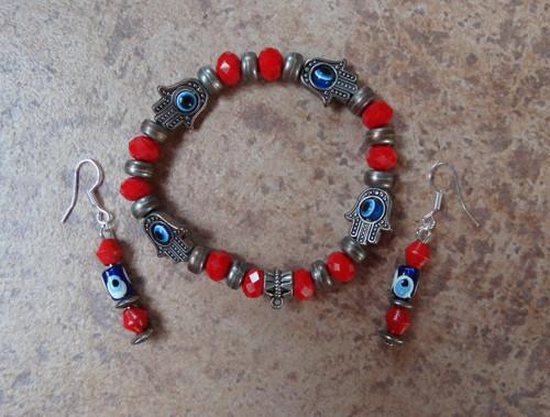Souprava náramek a náušnice NAZAR amulet