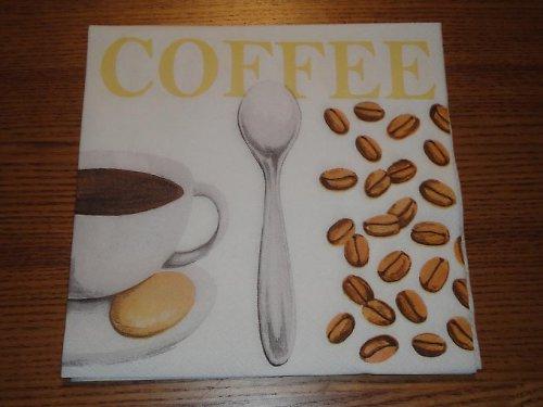 Ubrousek na decoupage - lžička s kávou