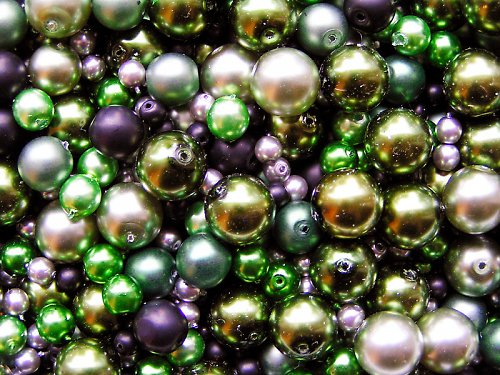 Voskové perle - temný les - směs