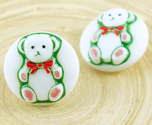 1ks Bílá Zelená Baby Medvídek Zvířat Kolo Ručně vy