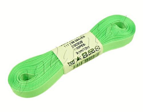 Stuha taftová 9mm x 10m / 306 - nilská zeleň