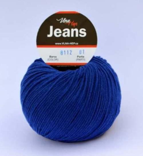 Jeans královská modrá 8112