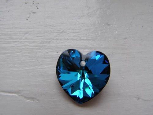 Swarovski srdce 18mm - Crystal Bermuda Blue
